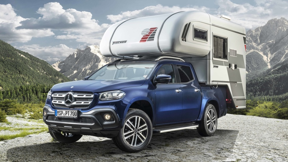 Mercedes-Benz X-Class pickup goes camping