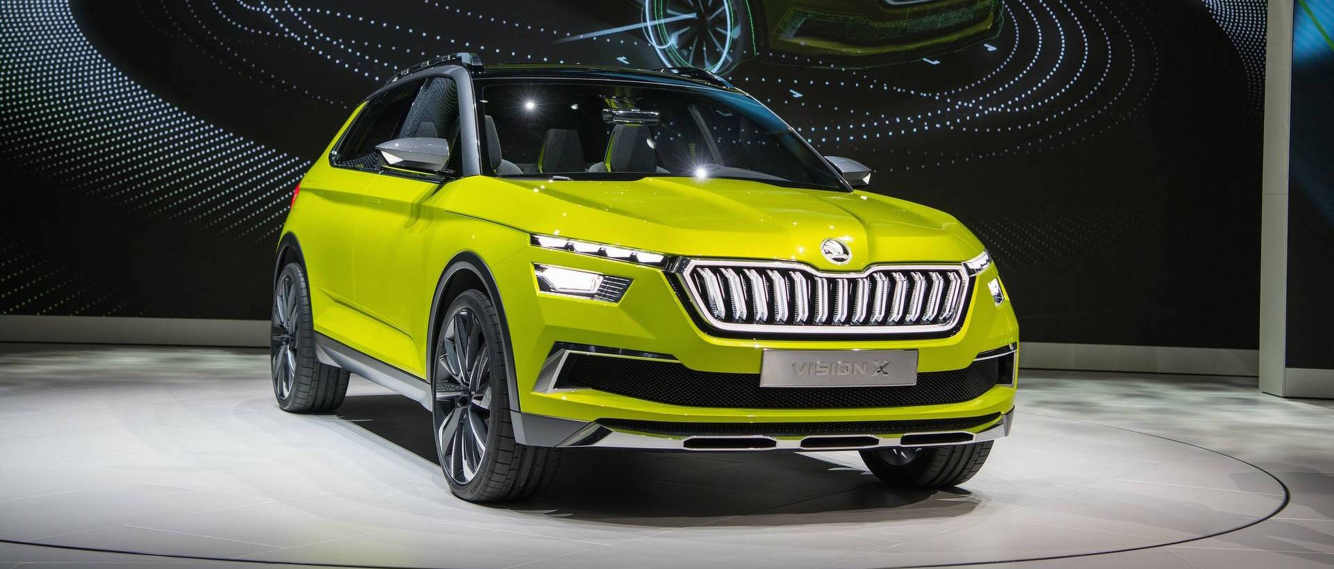 Skoda small SUV (production-spec Vision X) interior details revealed