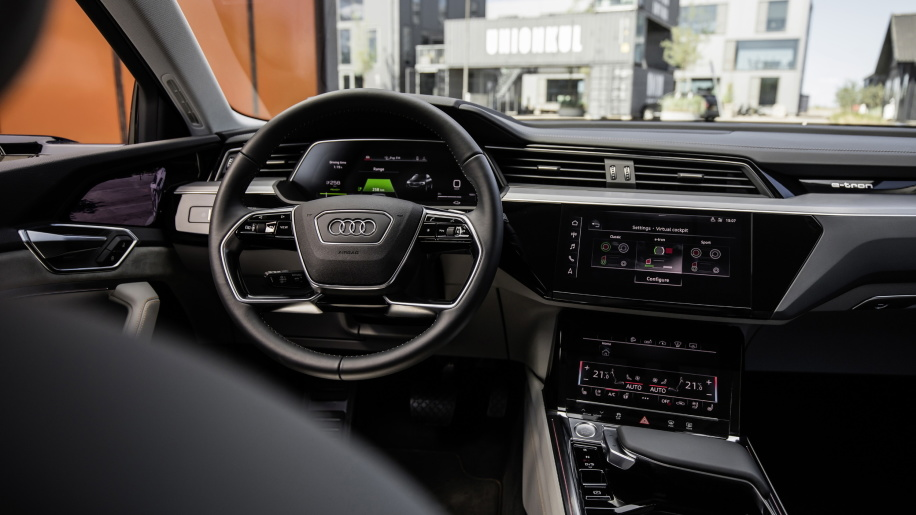 Audi E-Tron shows off its interior