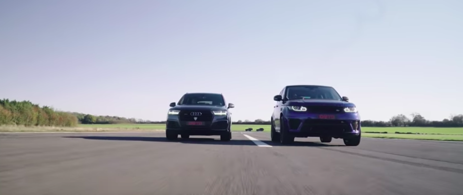 Mercedes-AMG G63 Smokes Range Rover SVR, Audi SQ7 In A Drag Race
