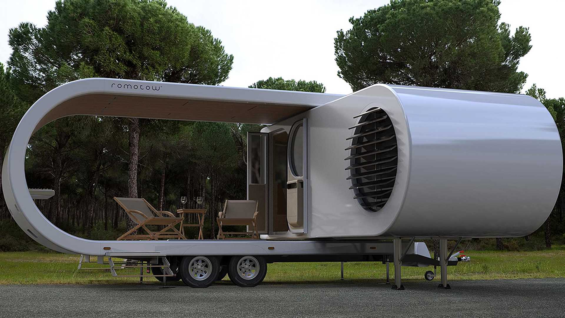 Romotow Camper Folds Up Like A Paper Clip