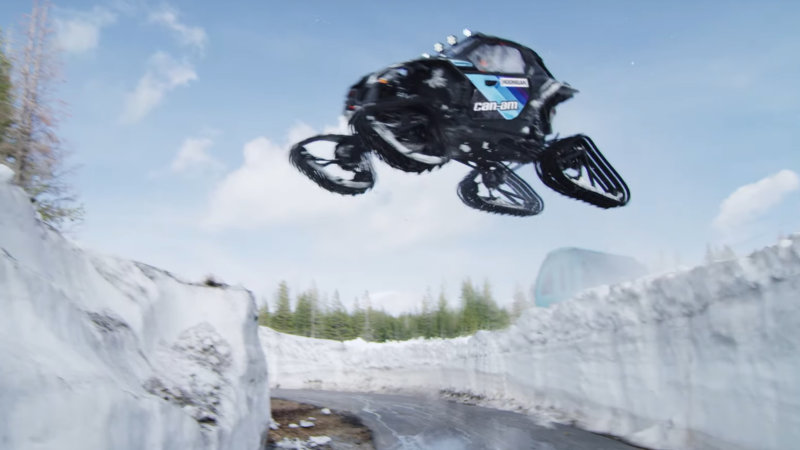 Watch Ken Block rip a tracked side-by-side all over a ski resort