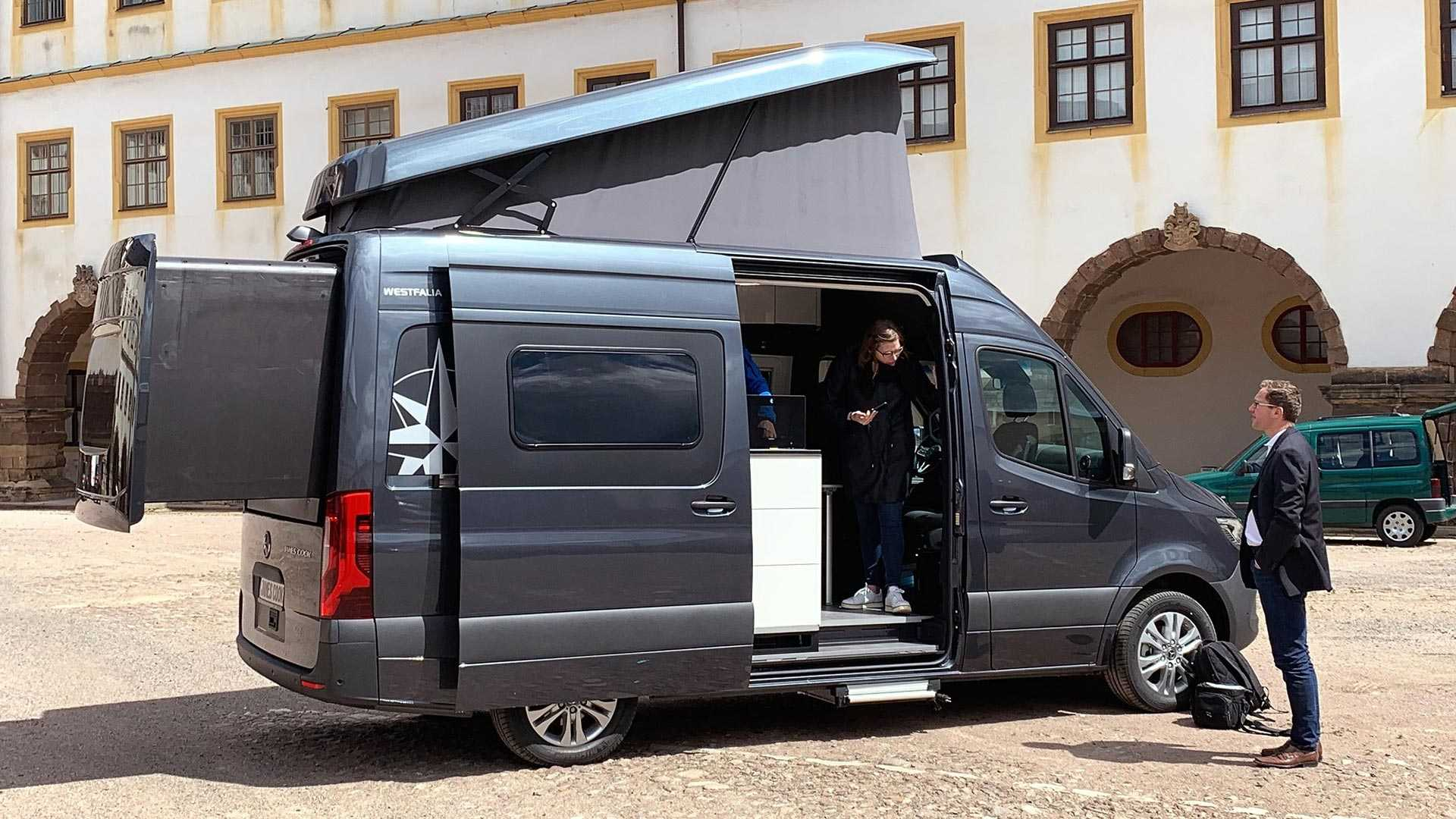 Westfalia James Cook Is A Sprinter Camper With Slide-Out Bed