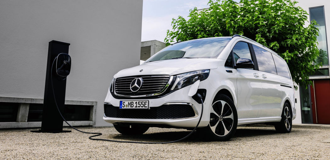 Mercedes EQV is an electric luxury van with 405 km of range