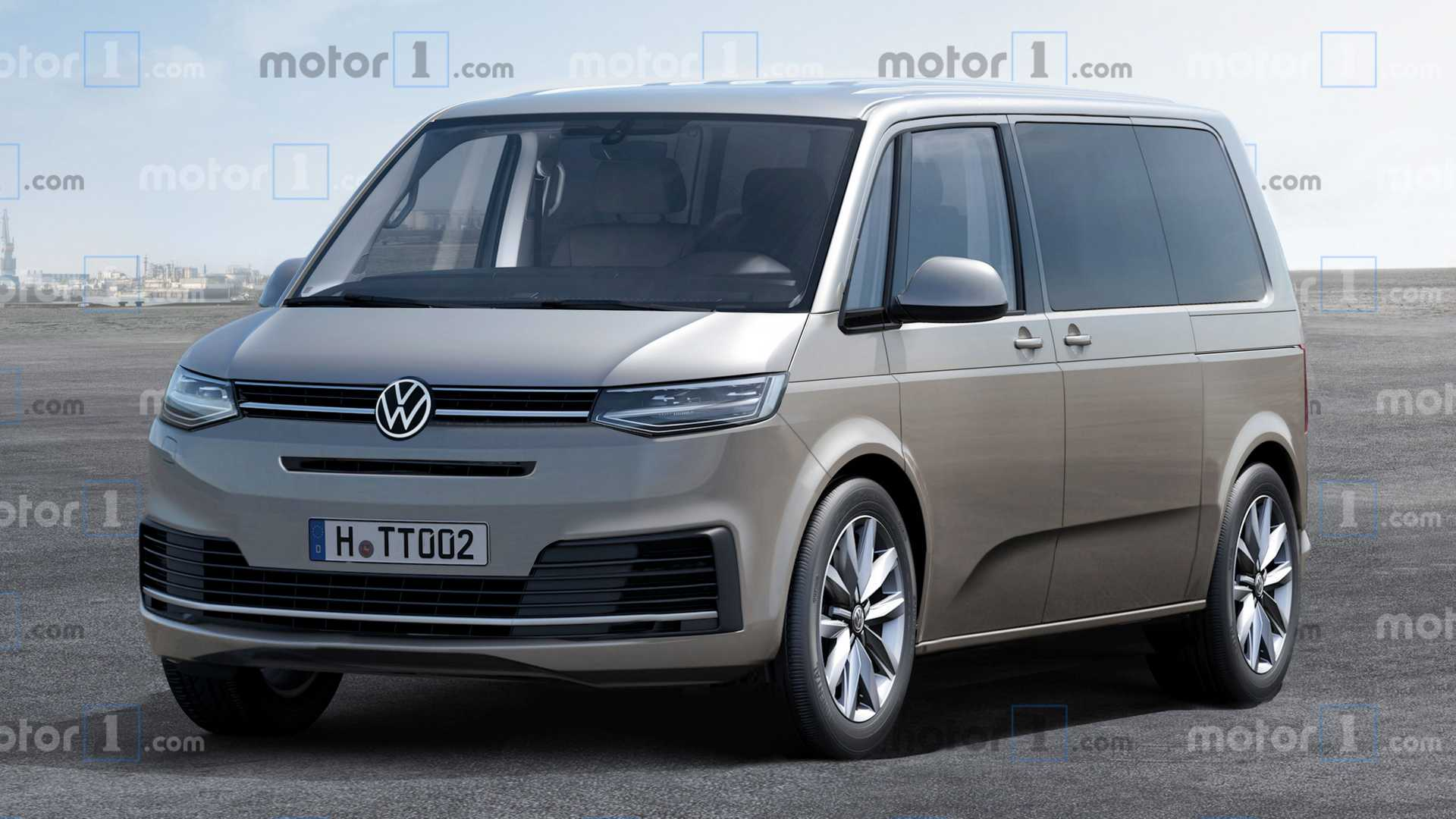 Upcoming Volkswagen T7 Van Visualized With Nip Here, Tuck There