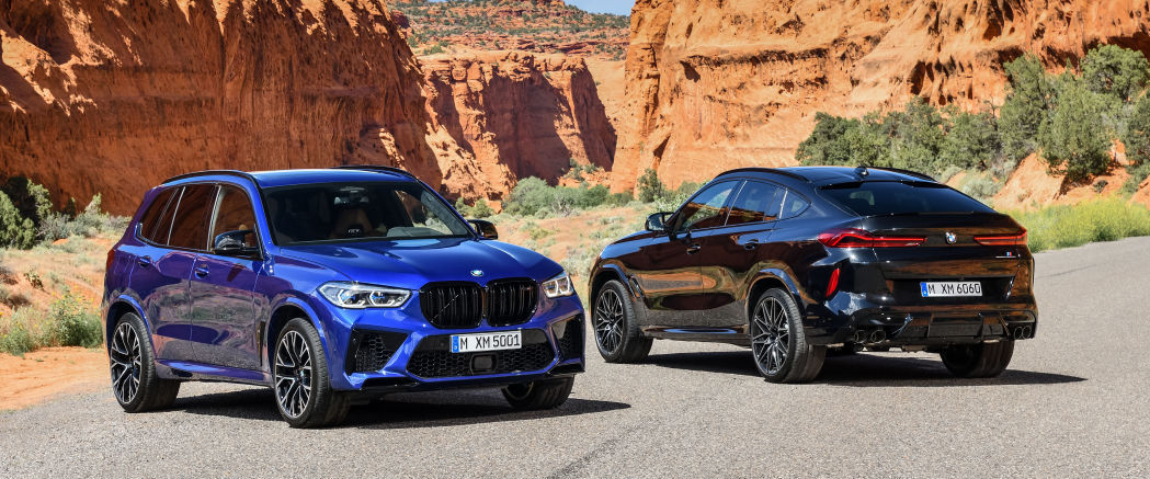 2020 BMW X5 M and X6 M are big SUVs with a race track attitude
