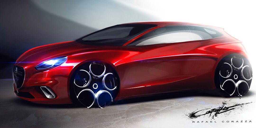 Alfa Romeo Hatchback Rendering Looks Juicy, Has Zagato Vibes