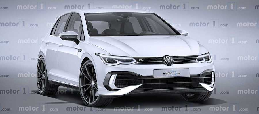 2021 VW Golf R Exclusive Rendering Previews The Performance Hatch
