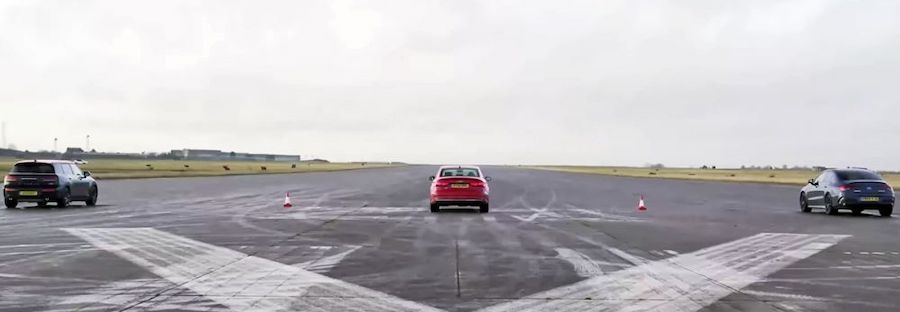 Audi S3 Faces Mercedes-AMG CLA 35, Mini Clubman JCW In Drag Race