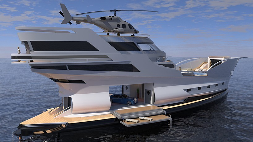 For the Modern Pirate: Caronte, a Superyacht That Can Carry Many of Your Toys