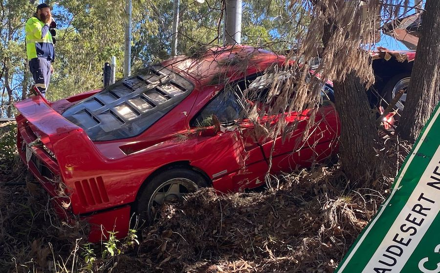"Ferrari F40 Crashed in Australia Was Uninsured, on ""Final Drive"" Before Sale"