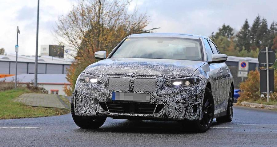 New electric BMW 3 Series variant seen testing again
